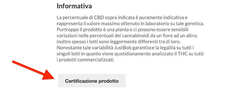 certificazione marijuana light in italia