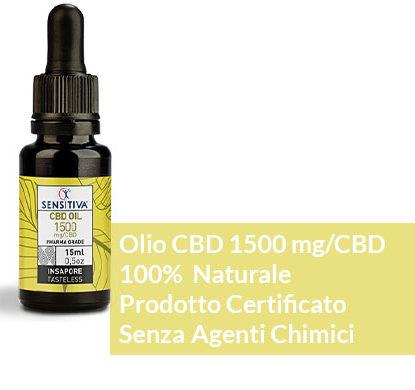 Descrizione Olio di CBD da 15 ml al 10% - Sensitiva