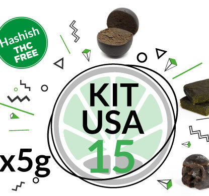 Kit USA 3 varietà di hashish legale al CBD 15 grammi